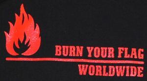 Detailansicht Kapuzen-Pullover: Burn your flag - worldwide (red)