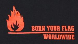 Detailansicht Kapuzen-Longsleeve: Burn your flag - worldwide