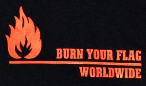 Detailansicht Longsleeve: Burn your flag - worldwide