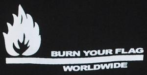 Detailansicht Kapuzen-Pullover: Burn your flag - worldwide