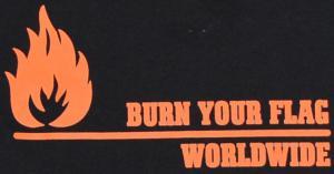 Detailansicht Woman Tanktop: Burn your flag - worldwide