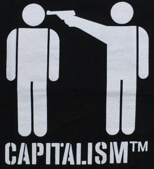 Detailansicht tailliertes T-Shirt: Capitalism [TM]