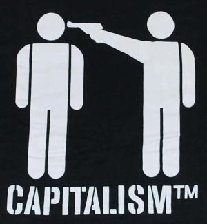 Detailansicht Kapuzen-Longsleeve: Capitalism [TM]