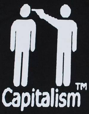 Detailansicht Kapuzen-Pullover: Capitalism [TM]