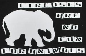 Detailansicht Kapuzen-Pullover: Circuses are no fun for animals