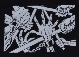 Detailansicht Fairtrade T-Shirt: clubbed