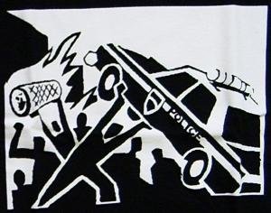 Detailansicht Girlie-Shirt: Copcar