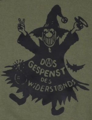 Detailansicht Kapuzen-Pullover: Das Gespenst des Widerstands