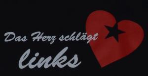 Detailansicht Trägershirt: Das Herz schlägt links