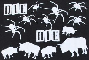 Detailansicht Girlie-Shirt: Die spinnen die Bullen