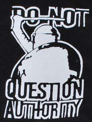 Detailansicht Kapuzen-Pullover: Do not question Authority