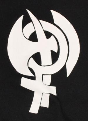 Detailansicht Kapuzen-Pullover: Doppelaxt