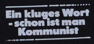 Detailansicht Kapuzen-Pullover: Ein kluges Wort - schon ist man Kommunist