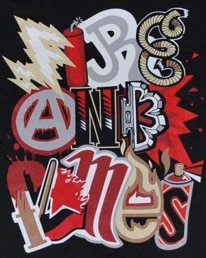Detailansicht tailliertes T-Shirt: Elements black