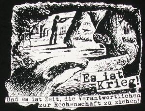 Detailansicht T-Shirt: Es ist Krieg! Und es ist Zeit, die Verantwortlichen zur Rechenschaft zu ziehen!