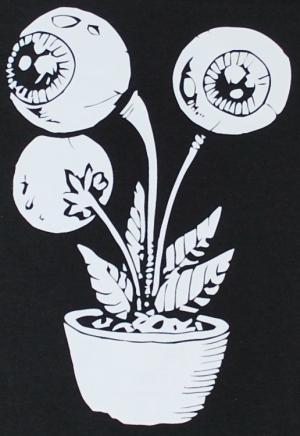 Detailansicht Girlie-Shirt: Eyeflower