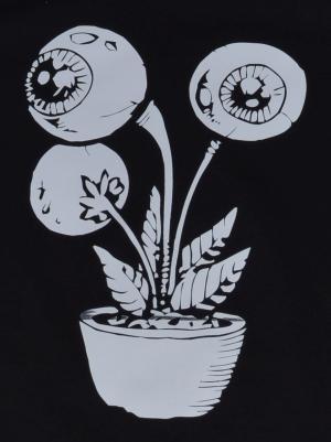 Detailansicht Fairtrade T-Shirt: Eyeflower