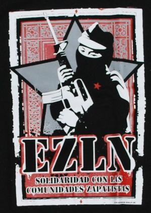 Detailansicht Girlie-Shirt: EZLN Solidaridad con las Comunidades Zapatistas