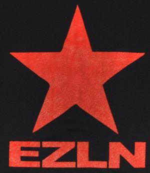 Detailansicht Girlie-Shirt: EZLN Stern