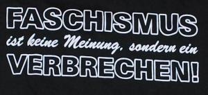 Detailansicht Kapuzen-Longsleeve: Faschismus ist keine Meinung, sondern ein Verbrechen!