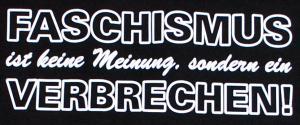 Detailansicht tailliertes Tanktop: Faschismus ist keine Meinung, sondern ein Verbrechen!