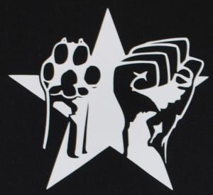 Detailansicht Girlie-Shirt: Faust und Pfote - Stern