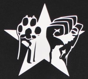 Detailansicht T-Shirt: Faust und Pfote - Stern