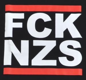 Detailansicht Fairtrade T-Shirt: FCK NZS