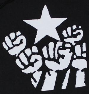 Detailansicht Kapuzen-Pullover: Fist and Star