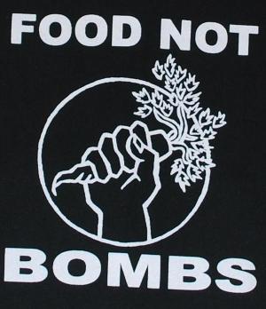 Detailansicht Kapuzen-Jacke: Food Not Bombs