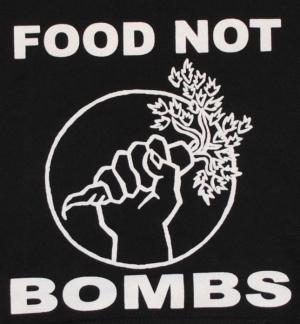 Detailansicht Kapuzen-Pullover: Food Not Bombs