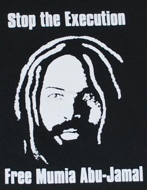 Detailansicht Kapuzen-Longsleeve: Free Mumia - Stop the Execution