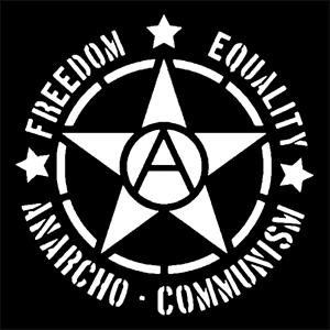 Detailansicht Polo-Shirt: Freedom - Equality - Anarcho - Communism