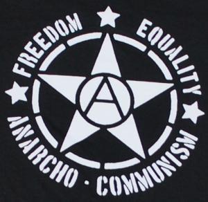 Detailansicht Longsleeve: Freedom - Equality - Anarcho - Communism