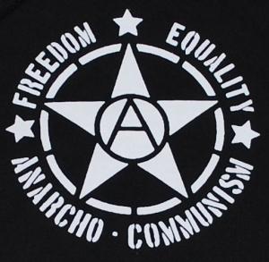 Detailansicht Kapuzen-Pullover: Freedom - Equality - Anarcho - Communism