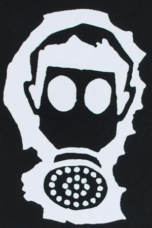 Detailansicht Longsleeve: Gasmaske