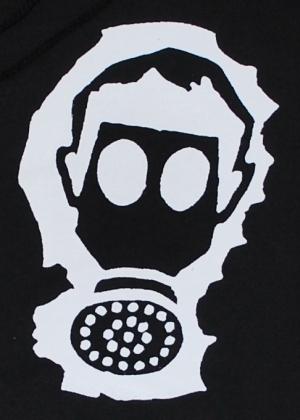 Detailansicht Kapuzen-Pullover: Gasmaske