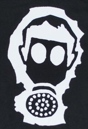Detailansicht Kapuzen-Jacke: Gasmaske