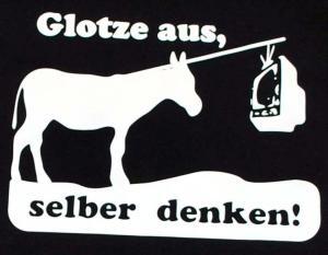 Detailansicht T-Shirt: Glotze aus, selber denken!