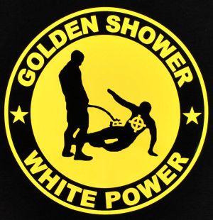Detailansicht Top / Trägershirt: Golden Shower white power