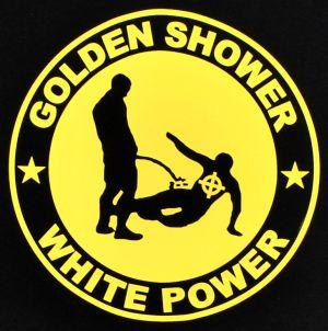 Detailansicht Man Tanktop: Golden Shower white power