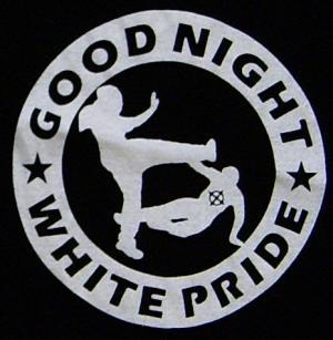 Detailansicht Trägershirt: Good Night White Pride (dicker Rand)