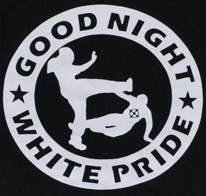 Detailansicht Kapuzen-Pullover: Good Night White Pride (dicker Rand)