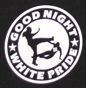 Detailansicht Shorts: Good Night White Pride (dünner Rand)