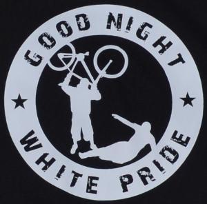 Detailansicht Kapuzen-Pullover: Good Night White Pride - Fahrrad