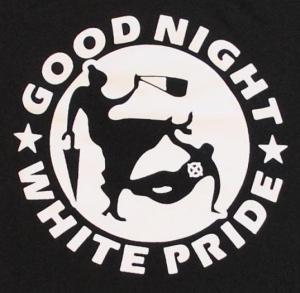 Detailansicht Kapuzen-Longsleeve: Good Night White Pride - Oma