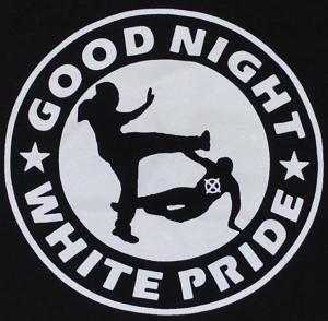 Detailansicht Girlie-Shirt: Good night white pride