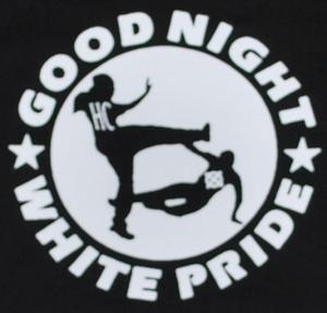Detailansicht Kapuzen-Pullover: Good night white pride