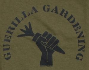 Detailansicht Girlie-Shirt: Guerilla Gardening