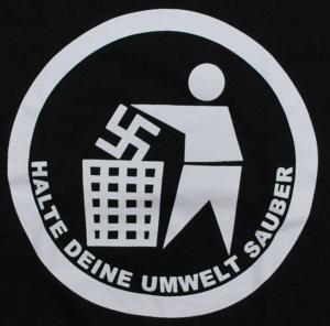 Detailansicht Girlie-Shirt: Halte Deine Umwelt sauber